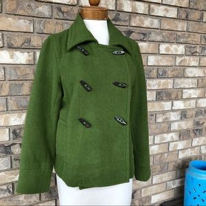 Old Navy Wool Toggle Pea Coat wm L